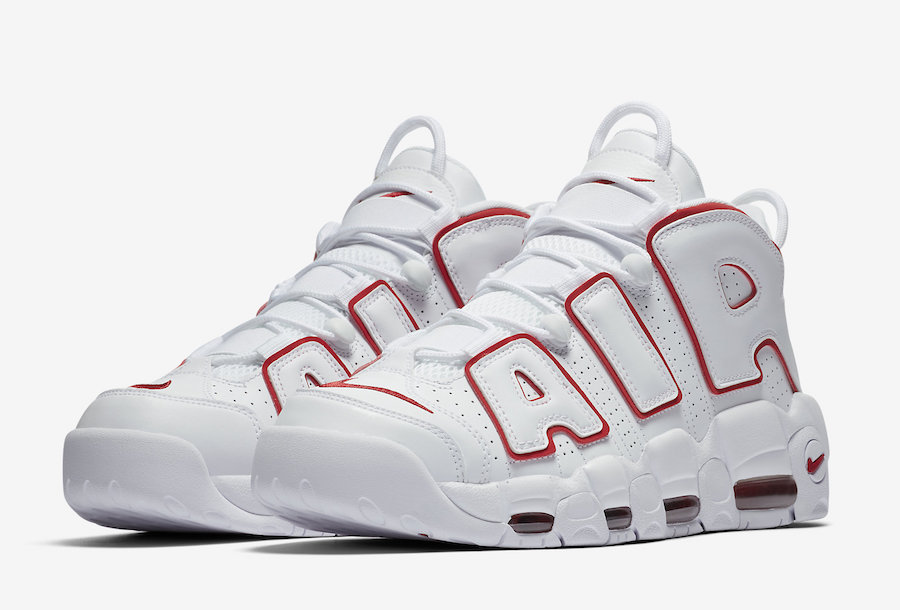 Nike Uptempo - White Red